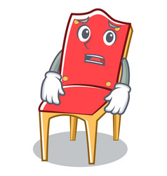 Afraid chair character cartoon collection vector