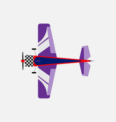 airplane with a propeller bottom view vector image