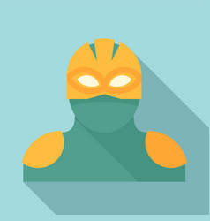 Alien superhero icon flat style vector