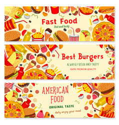 Banners for fast food restaurant vector
