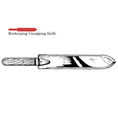 beekeeping uncapping knife vector image