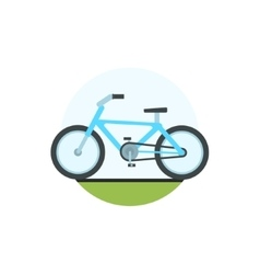 Bicycle Round Sticker vector image