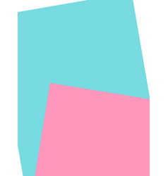 blue pink paper empty space vector image