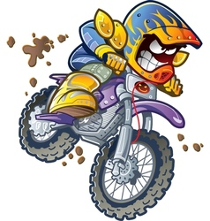 BMX Dirt Bike Rider vector image