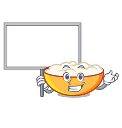 Bring board cottage cheese character cartoon vector