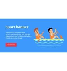 Canoe rowing sports banner vector