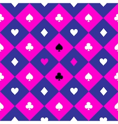 Card Suits Cosmos Purple Blue Pink Chess Board vector image