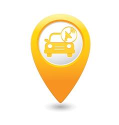 Cars satelite map pointer yellow vector