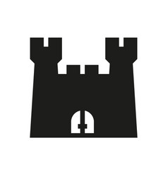 Castle icon on white background vector