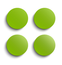 circle banner greenery around card set vector image