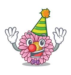 Clown gerbera flowers in the cartoon shape vector