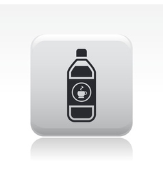 Coffee bottle icon vector