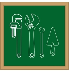 Construction kit tools vector image