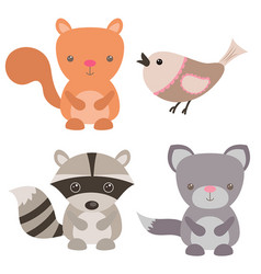 Cute animals cute animals vector