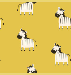 cute pattern zebra vector image