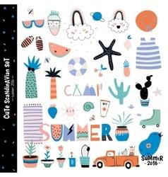 Cute Summer Design Scandinavian Set vector image
