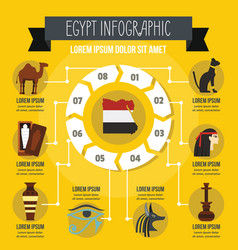 egypt infographic concept flat style vector image
