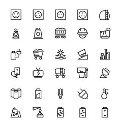 Energy Line Icons 2 vector