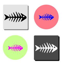 fishbone flat icon vector image