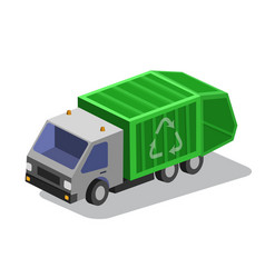 garbage collector truc vector image