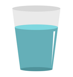 Glass water icon isolated vector