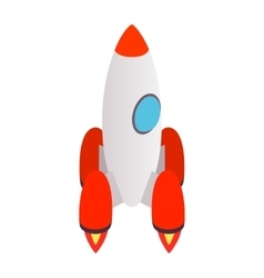 Grey rocket icon isometric 3d style vector image