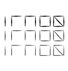 hand drawn tally marks vector image