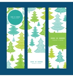 holiday christmas trees vertical banners vector image