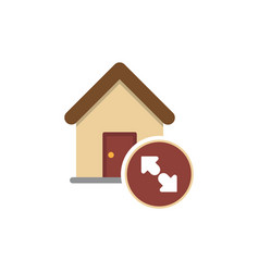 house price up icon vector image