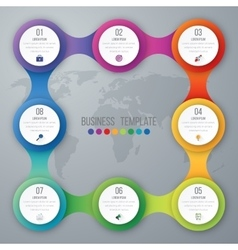 infographics eight options vector image