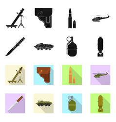 Isolated object weapon and gun logo collection vector