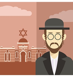 Jew icon 2 vector