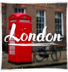 London calligraphy sign on blurred background vector