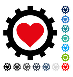 love heart options gear icon vector image