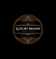 Luxury brand label vector
