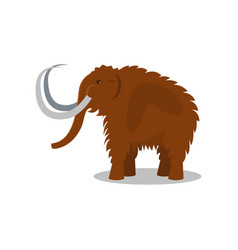 Mammoth extinct animal of stone age vector