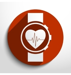 medical watch web icon vector image
