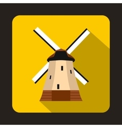 Mill icon flat style vector image