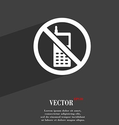 Mobile phone is prohibited icon symbol Flat modern vector