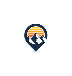 mountain point logo icon design vector image