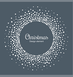 New year 2019 card background snow cristmas frame vector