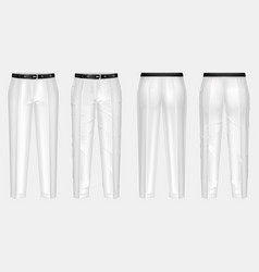Pair ironed and crumpled white pants vector