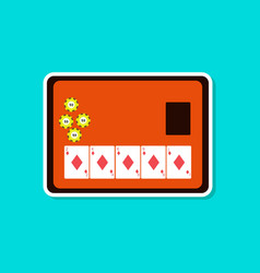 paper sticker on stylish background poker board vector image
