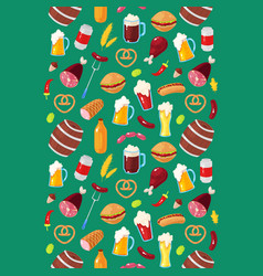 Pattern for beer festival vector