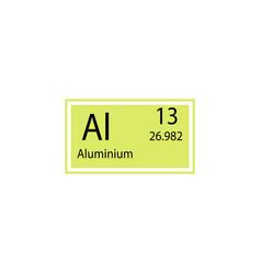 Periodic table element aluminium icon element vector