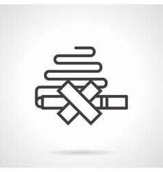 Quit smoking simple line icon vector