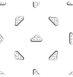 rainy cloud pattern seamless black vector image