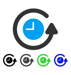 restore clock flat icon vector image