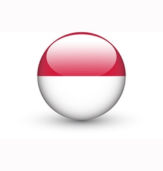 Round icon with national flag of indonesia vector