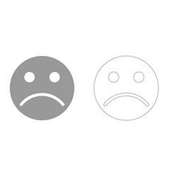 sad emoticon it is icon vector image